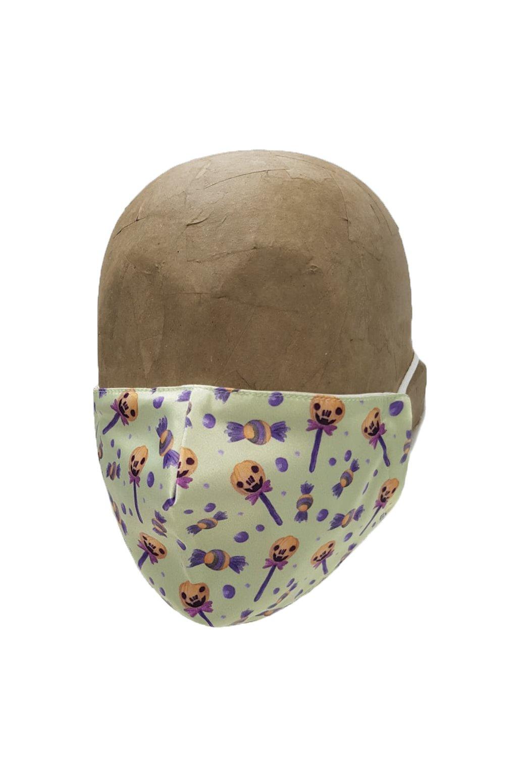 Rúško PUMPKIN LOLLIPOP s iómi striebra UNISEX A