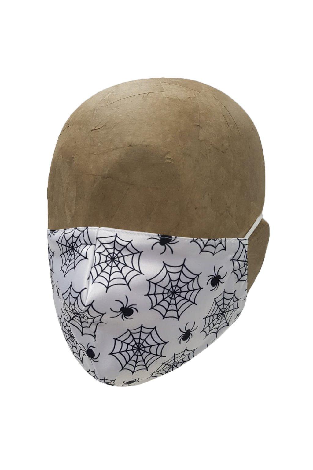 Rúško SPIDER WHITE s iómi striebra UNISEX A
