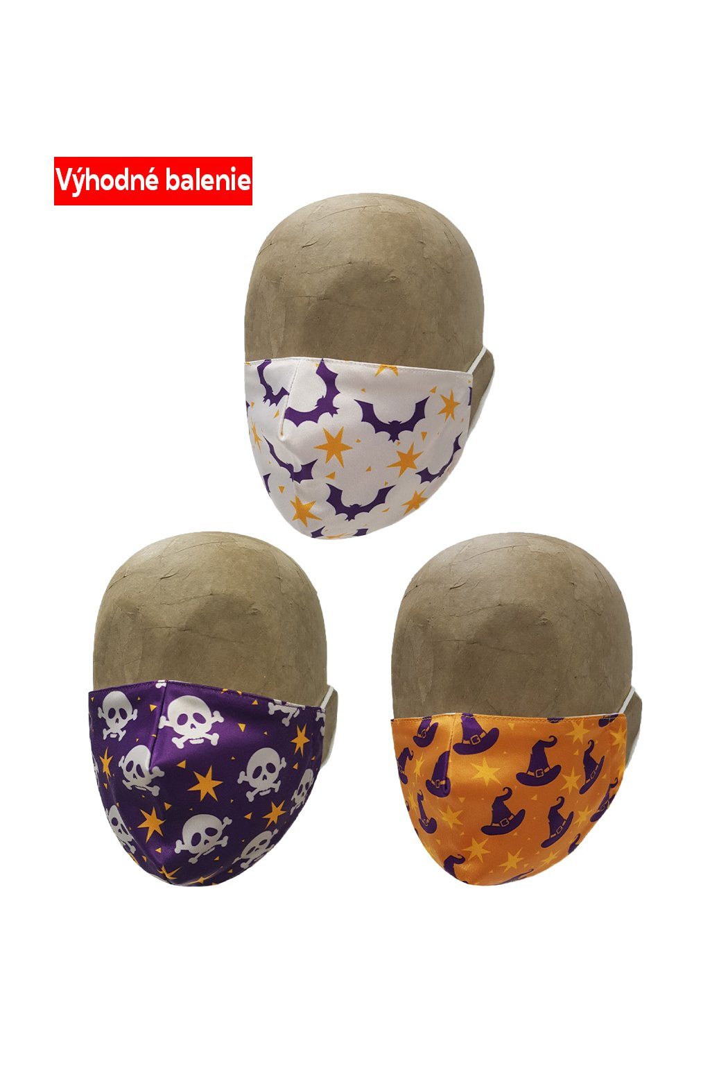 Rúška MAGIC HALLOWEEN 3 PACK UNISEX