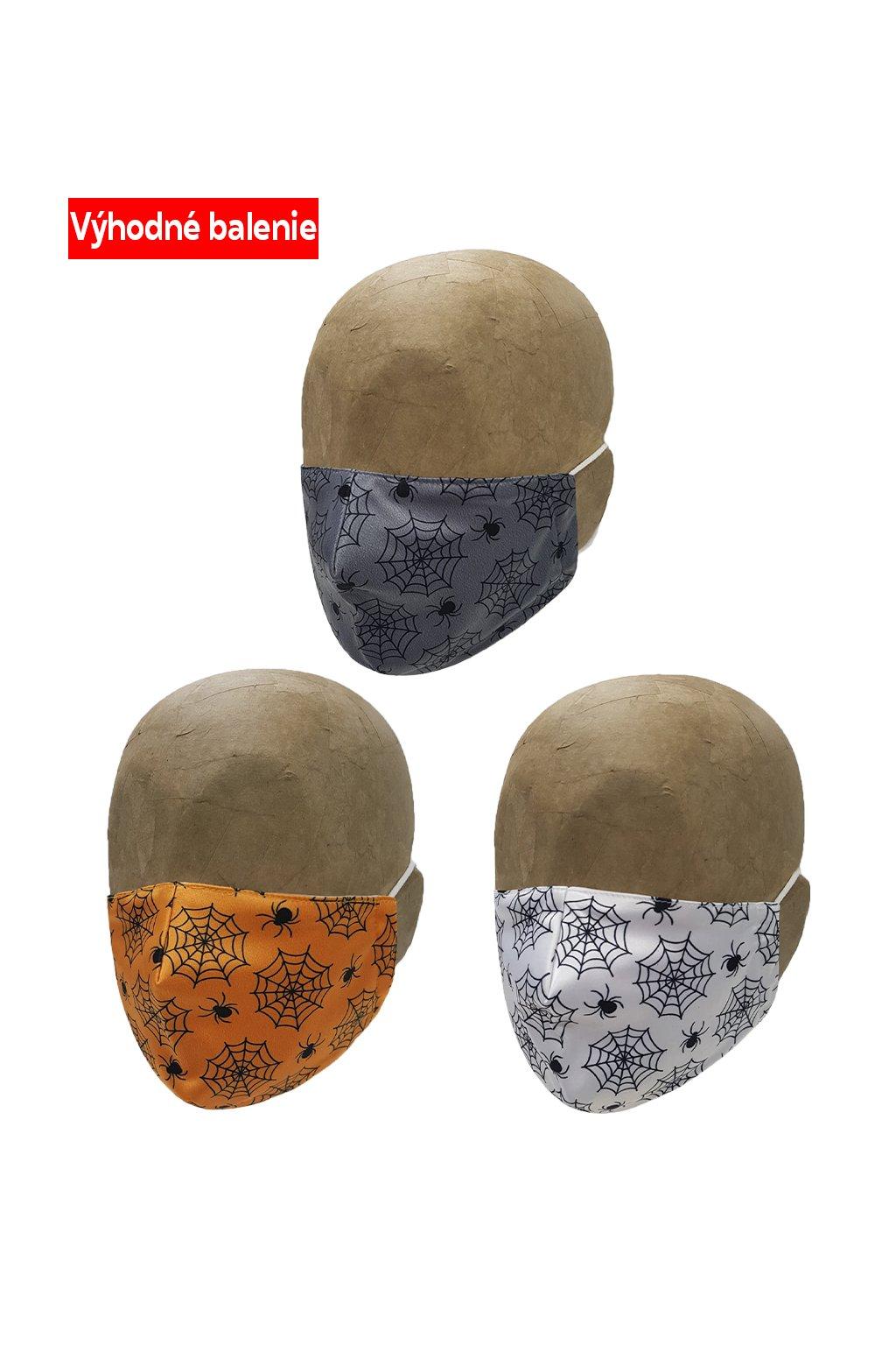 Rúška SPIDER BASIC 3 PACK DETSKÉ M