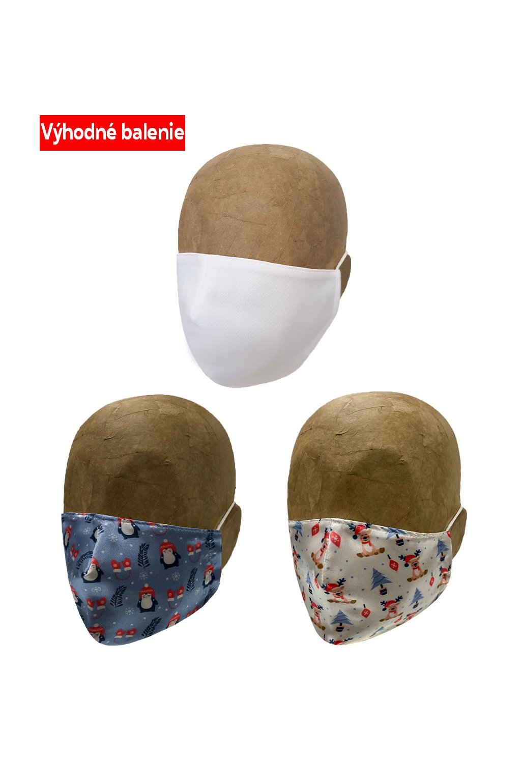 Rúško ANIMALS 3 PACK UNISEX A