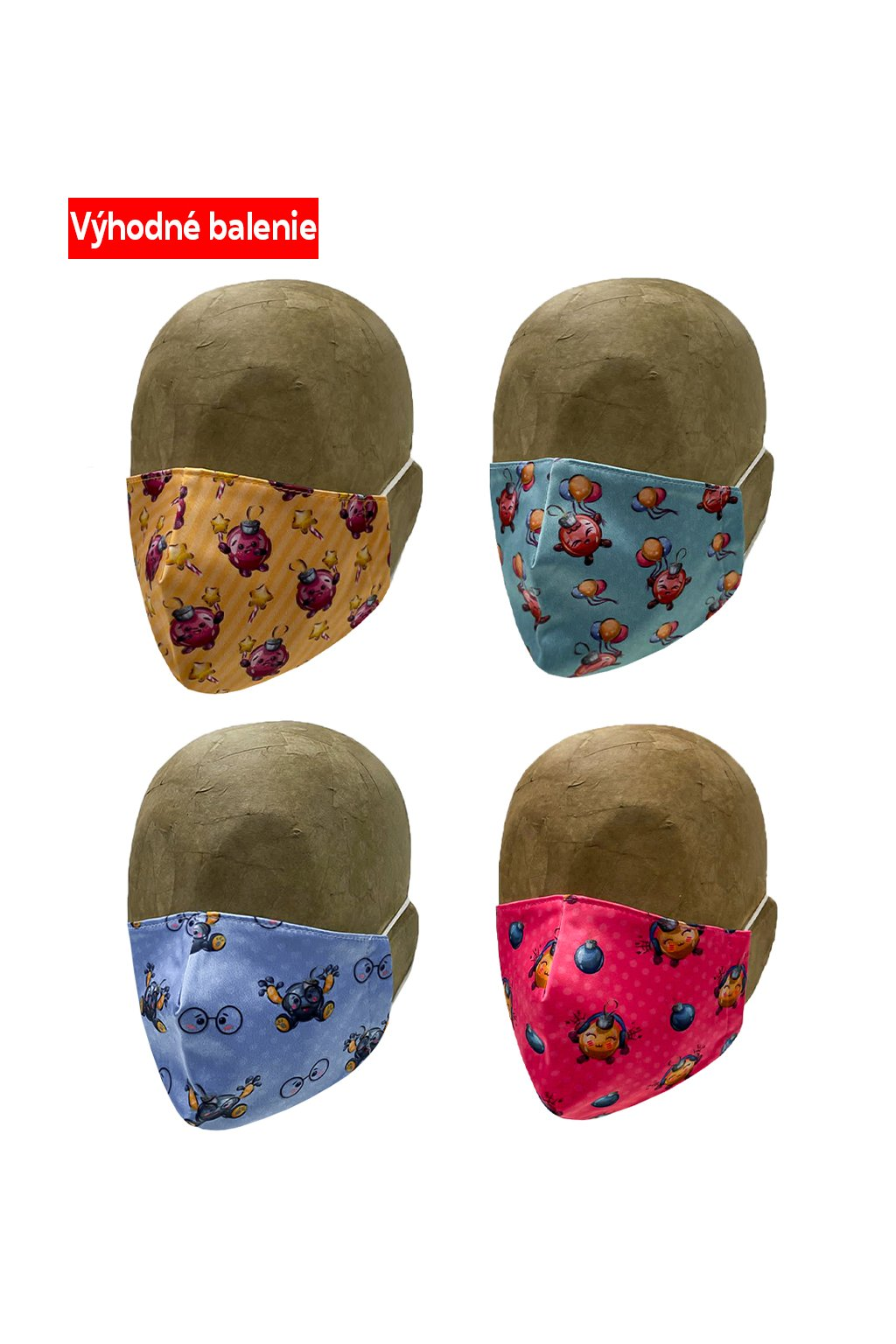 Rúško CHRISTMAS BALL 4 PACK UNISEX B