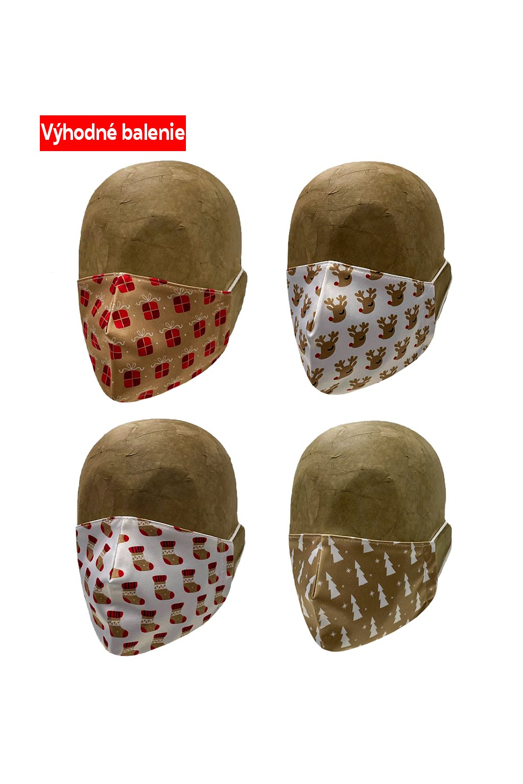 Rúško GOLDEN CHRISTMAS 4 PACK UNISEX B
