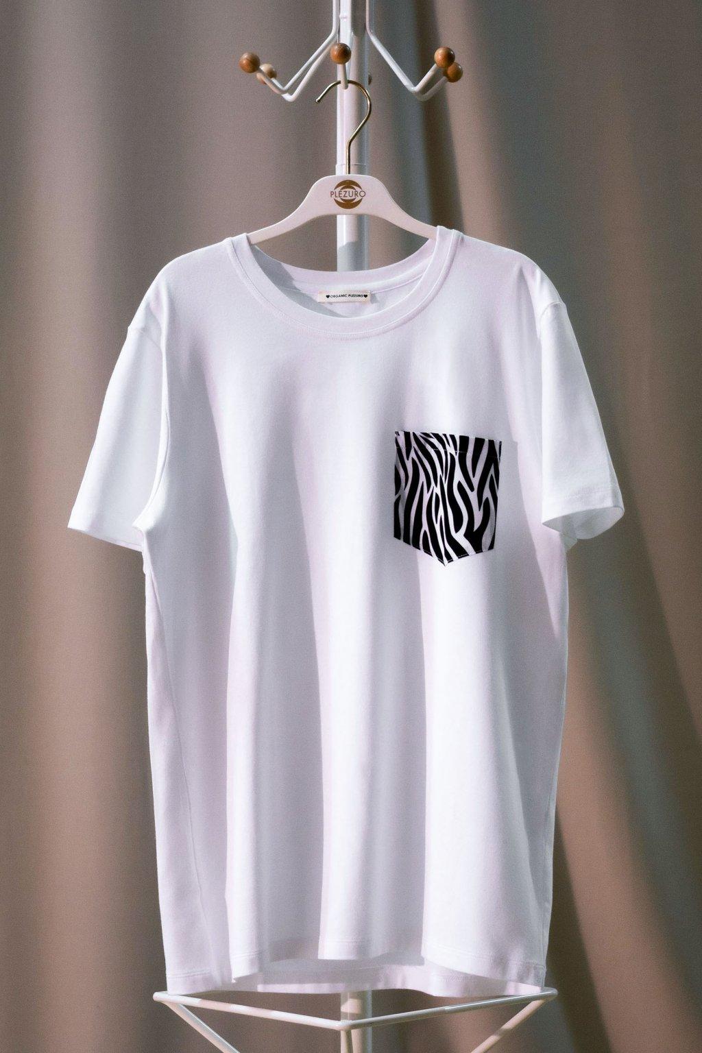 Tričko z organickej bavlny ZEBRA UNISEX 1
