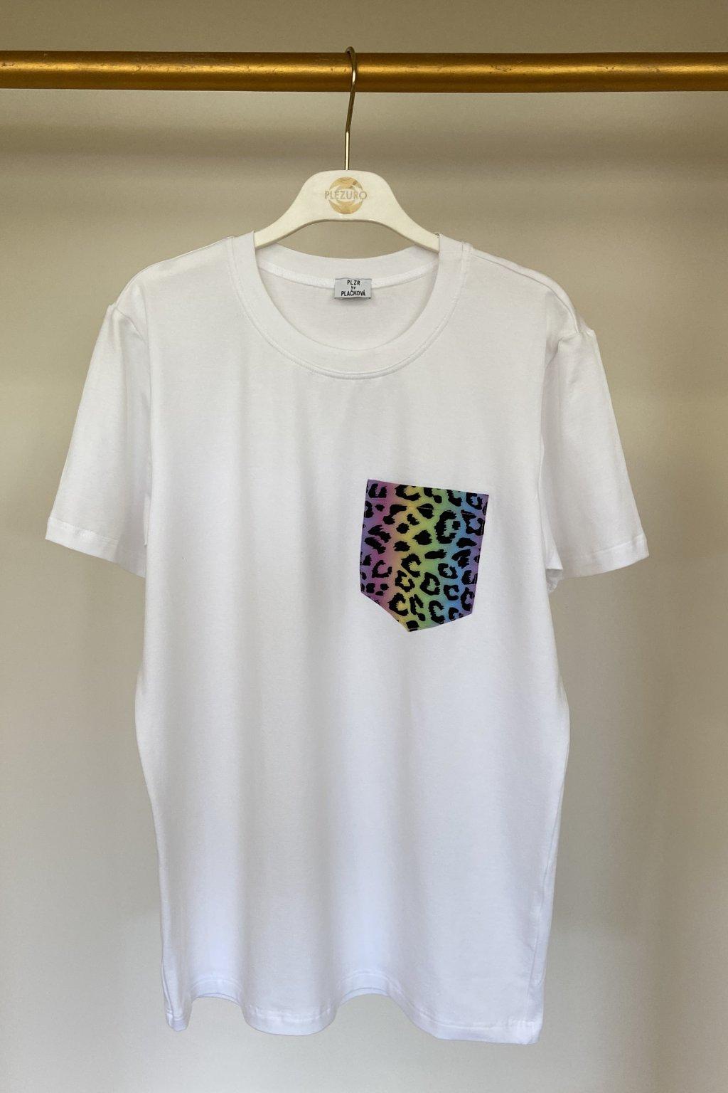 Tričko z organickej bavlny LEOPARD PASTEL UNISEX