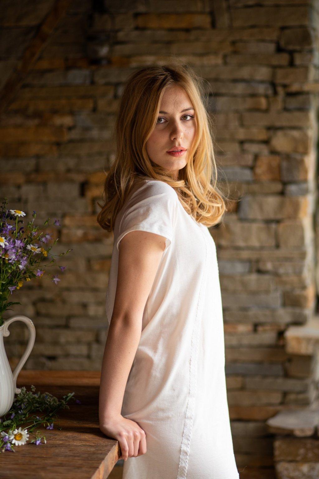 Dámska nočná košeľa z organickej bavlny