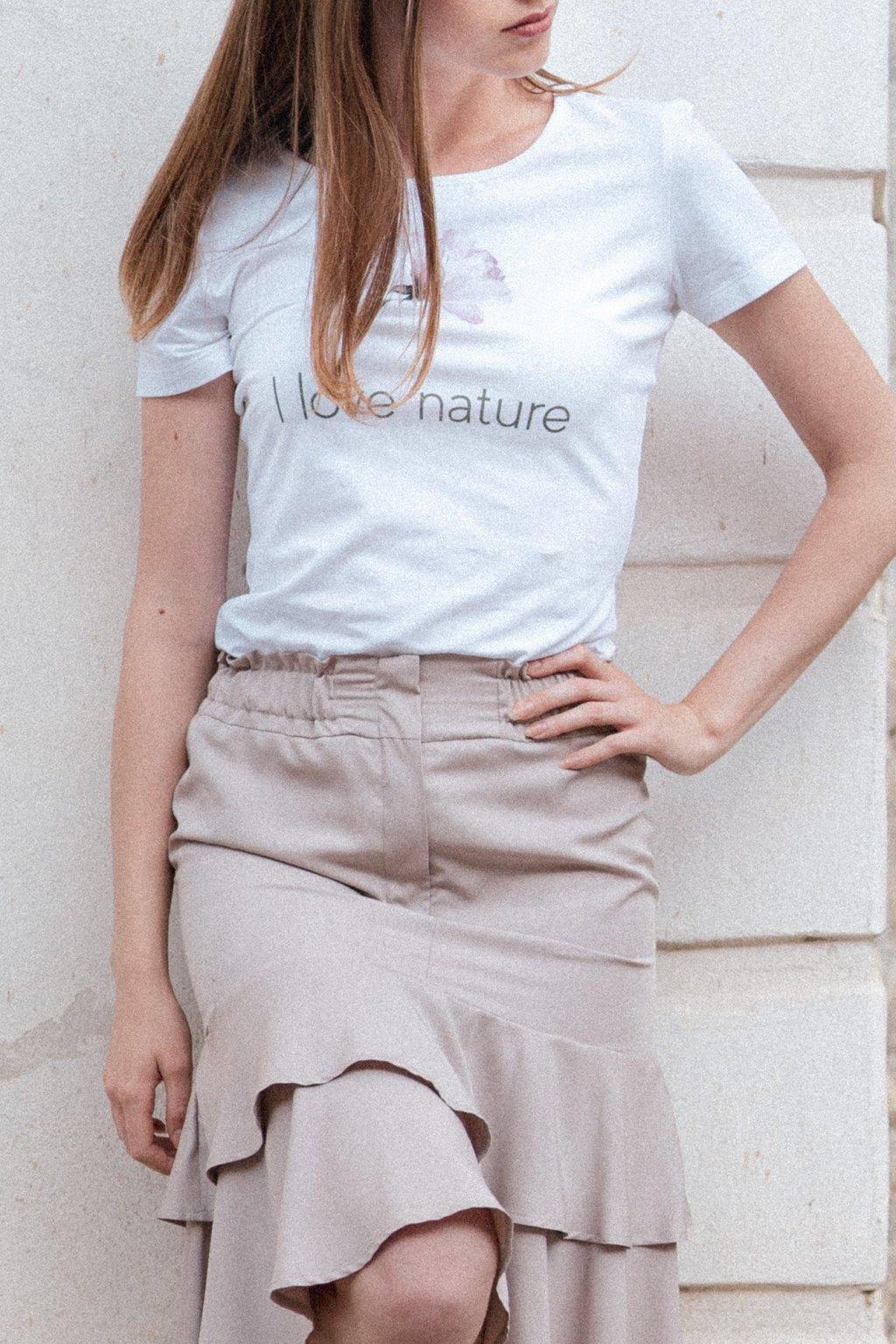 Dámske tričko z organickej bavlny ROSE COLLECTION