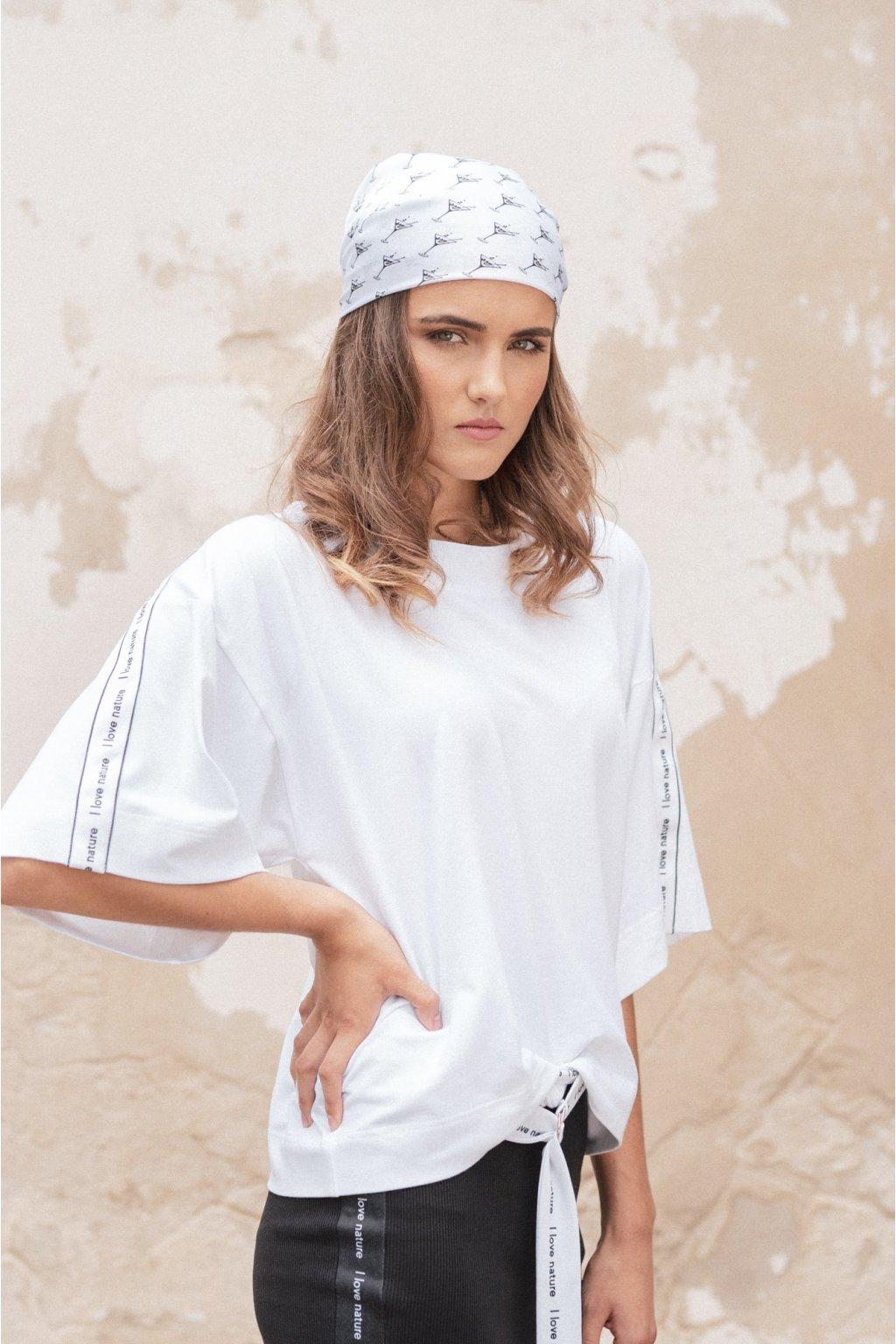 Boxy tričko z organickej bavlny BLACK & WHITE COLLECTION