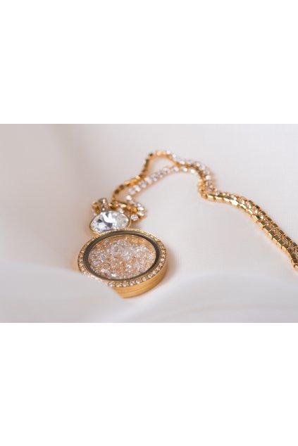 Honey crystal náhrdelník Anabelle 1