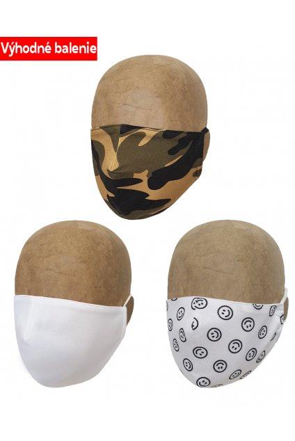 Rúška ARMY 3 PACK DETSKÉ B