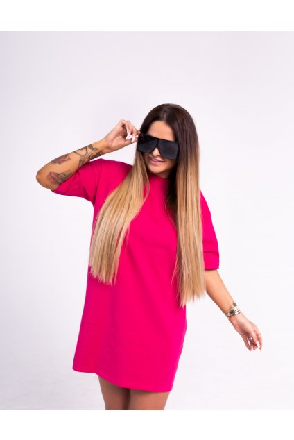 OVER SIZE Šaty PINK A