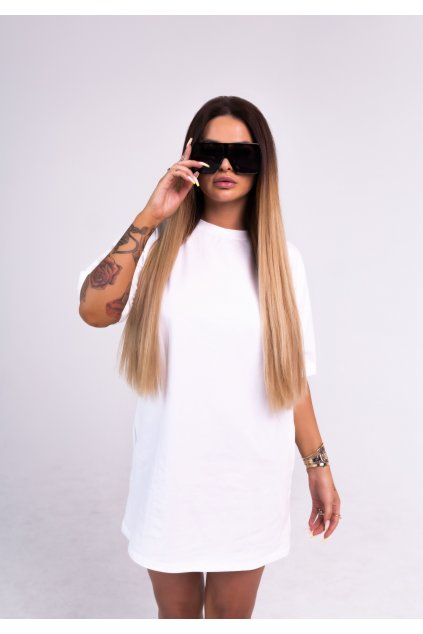 OVER SIZE Šaty SNOW WHITE A