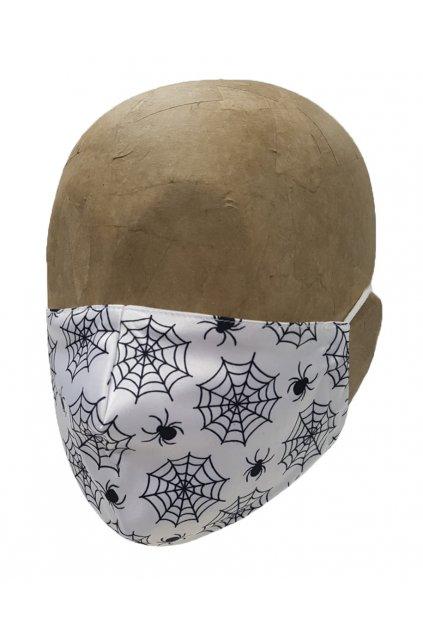 Rúško SPIDER WHITE s iómi striebra DETSKÉ A