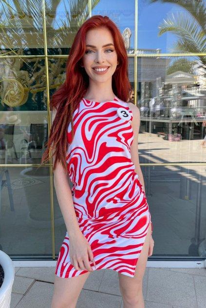 Šaty RED SMOKE B3