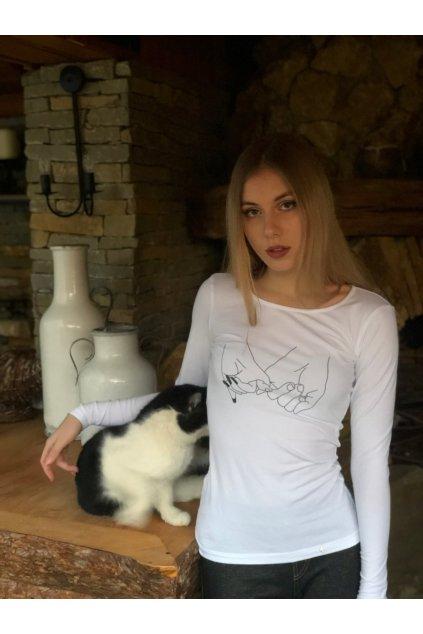 Tričko z organickej bavlny s dlhým rukávom RUKY