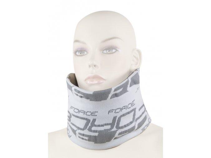 šátek multifunkční FORCE zima, bílo-šedý, UNI