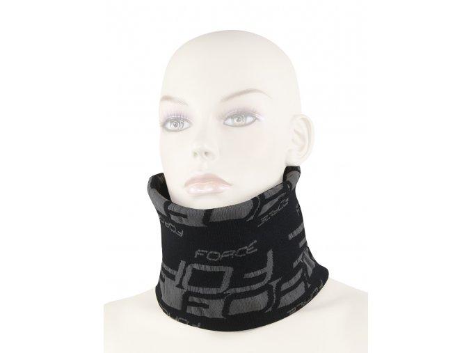 šátek multifunkční FORCE zima, černo-šedý, UNI