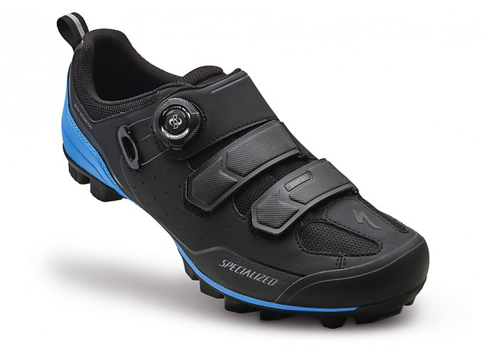 Cyklistické tretry Specialized Comp Mtb - black/neon blue