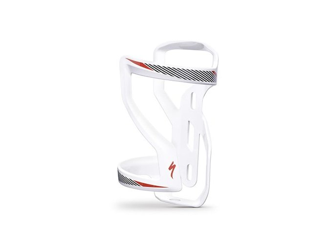 Specialized Zee Cage II levý Side Loading (White/Black/Red)
