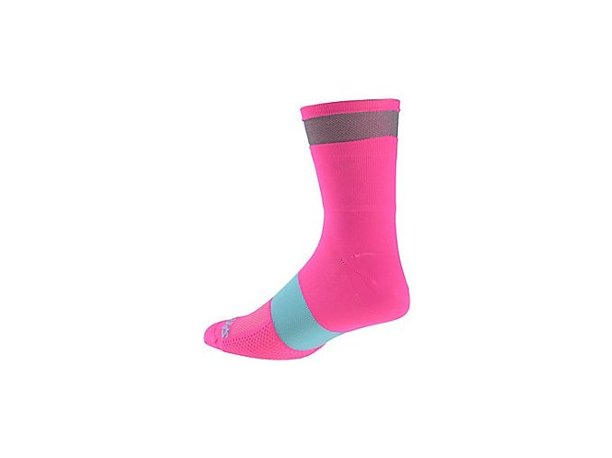 Ponožky REFLECT TALL SOCK NEON PNK vel. L