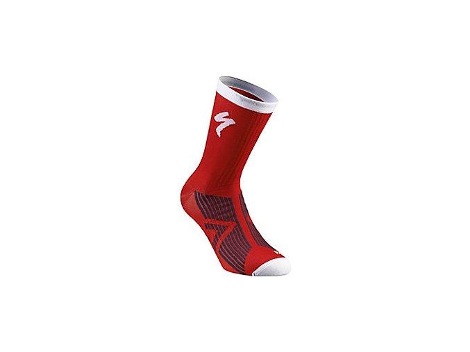 Ponožky SL ELITE SUMMER SOCK RED/WHT L