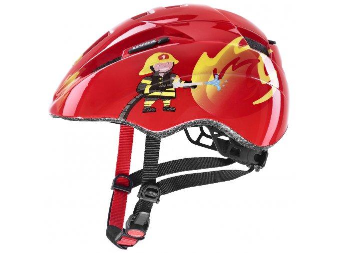 cyklistická přilba UVEX  KID 2, RED FIREMAN (46-52)