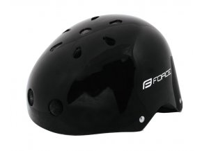 přilba BMX černá-lesk