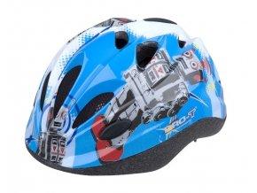 Dětská cyklistická přilba PRO-T Vigo modrá,robot