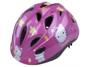 Dětská cyklistická přilba PRO-T Vigo  růžová,Kitty