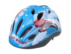 Dětská cyklistická přilba PRO-T Vigo modrá crazy pilot
