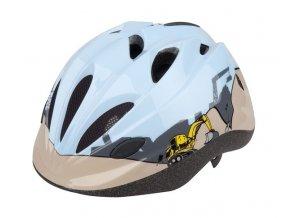 Dětská cyklistická přilba PRO-T Vigo modro-béžová bagr