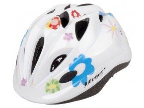 Dětská cyklistická přilba PRO-T Plus Toledo In mold  mořské květy