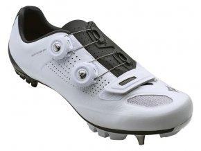 Dámské cyklistické tretry Specialized S-Works XC MTB - white/black