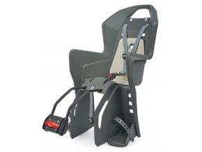 Dětská sedačka POLISPORT Koolah tmavě šedo-krémová