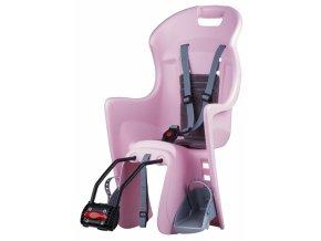 Dětská sedačka POLISPORT Boodie růžovo-stříbrná