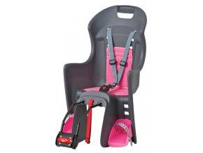 Dětská sedačka POLISPORT Boodie šedo-růžová