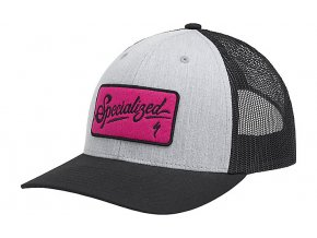 SCRIPT TRUCKER SNAPBACK HAT Specialized Heather Gray/Black/Bright Pink