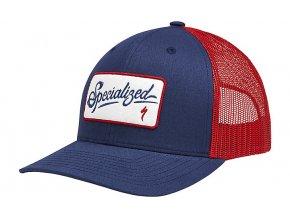 SCRIPT TRUCKER SNAPBACK HAT Red/White/Blue