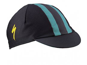 CYCLING CAP LIGHT BLK/DKTEAL/YEL OSFA