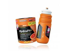 hypotonický nápoj NAMEDSPORT HYDRAFIT s bidonem Elite Giro 2018