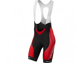 Cyklokalhoty Specialized SL PRO BIB SHORT RED TEAM XXL