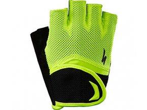 Dětské cyklistické rukavice Specialized Bg Kids Glove SF - black/neon yellow