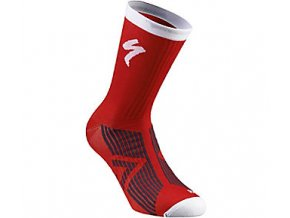 Ponožky SL ELITE SUMMER SOCK RED/WHT L