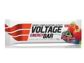 nutrend voltage energy bar 65g lesni plody original