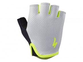 dámské rukavice Specialized BG Grail Short finger grey/neon yellow WMN