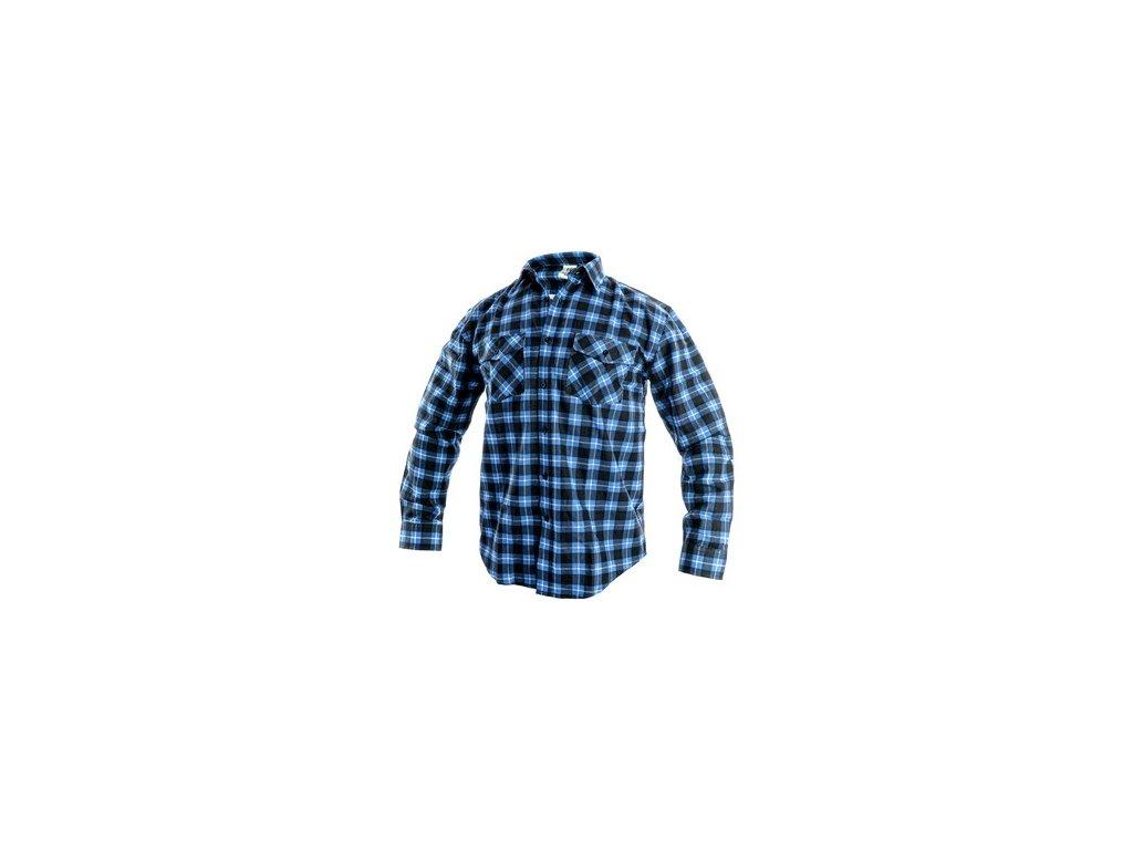 Pánská košile s dlouhým rukávem TOM, modro-černá