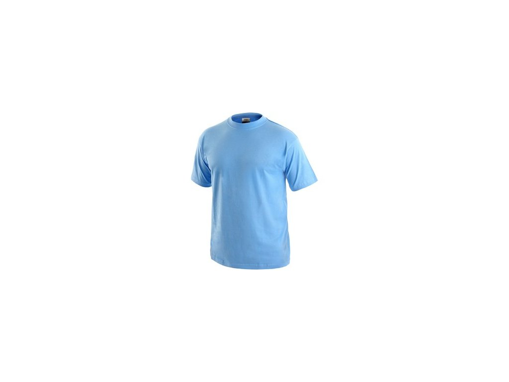 Tričko CXS DANIEL, krátký rukáv, nebesky modré