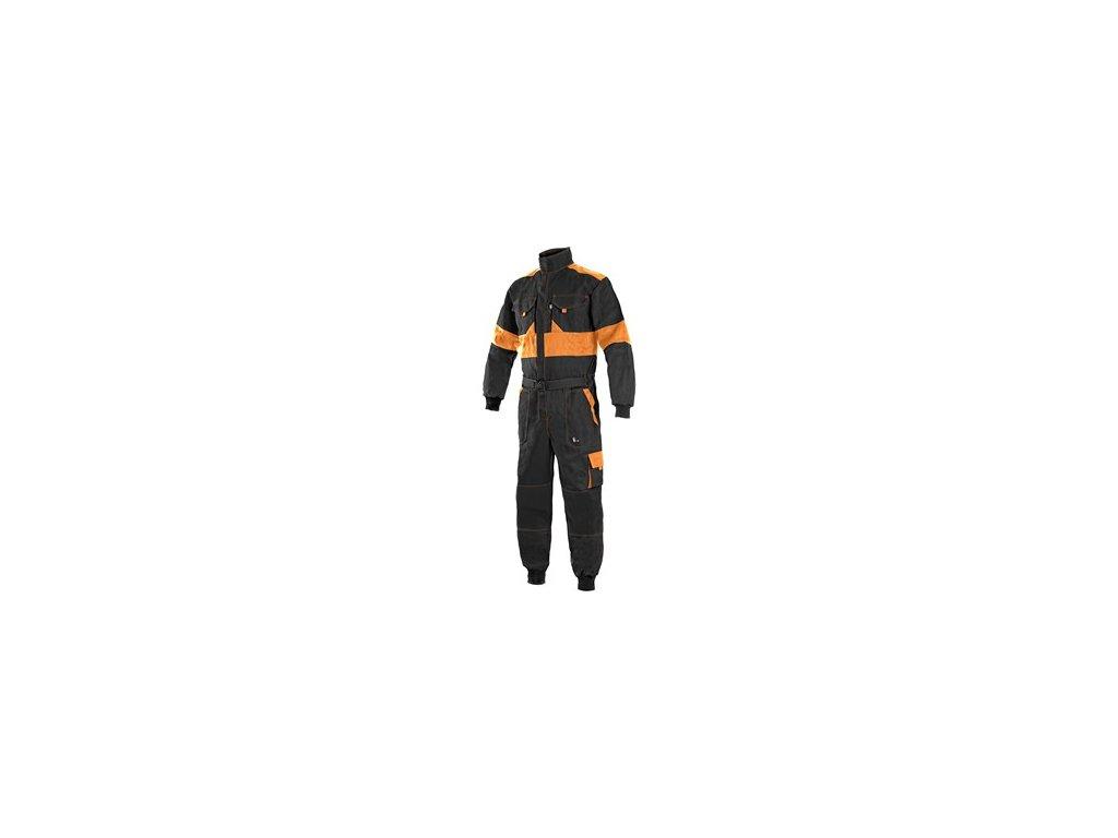 Kombinéza CXS LUXY ROBERT, pánská, černo-oranžová