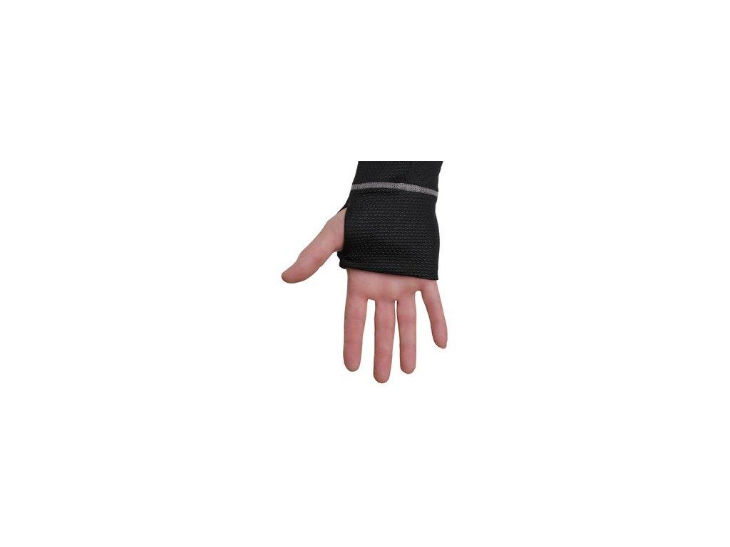 Tričko COOLDRY, funkční, dlouhý rukáv, pánské, černo-šedé