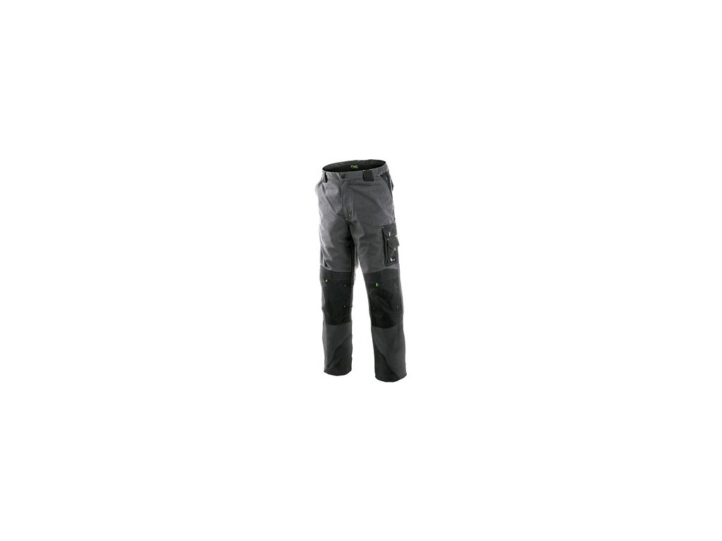 Kalhoty do pasu CXS SIRIUS NIKOLAS, zimní, pánské, šedo-zelené